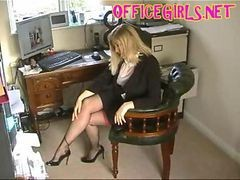 Black, Stockings, Secretary, Gotporn